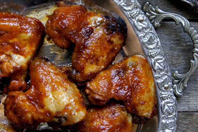 Skrzydełka z kurczaka na słodko