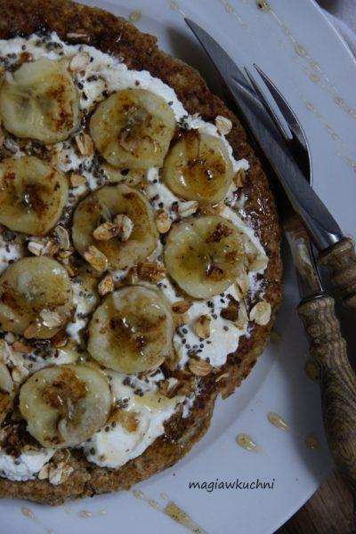 Omlet owsiany z bananami