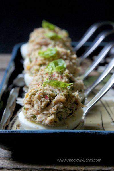 Jajka z tuńczykiem