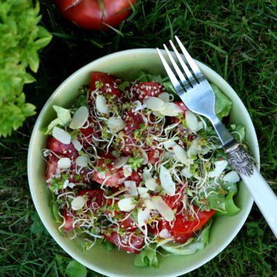 Sałatka pomidorowa z oliwą truflową
