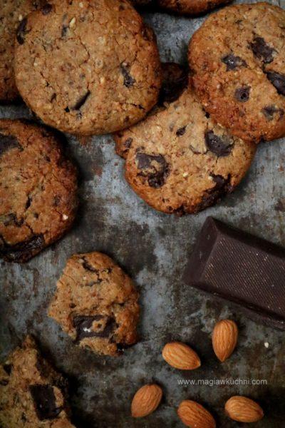 Vegańskie ciasteczka czekoladowe