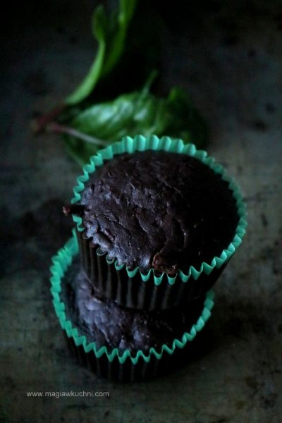 Wegańskie muffiny czekoladowe