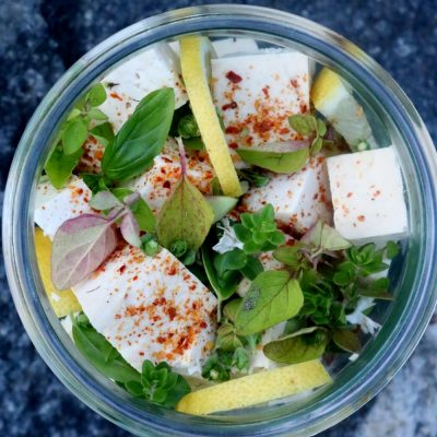 Marynowane tofu do sałatki