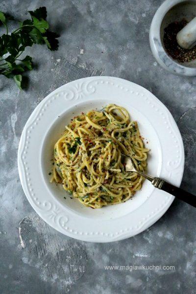 Ekspresowy makaron z gorgonzolą