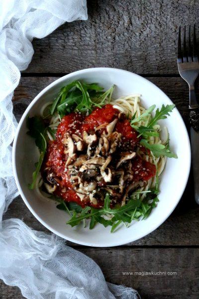 Spaghetti z shitake