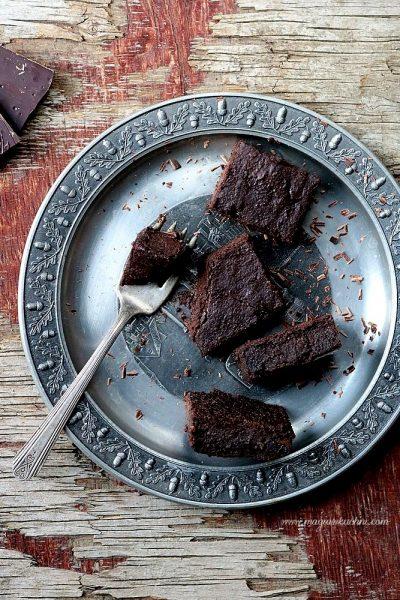 Wilgotne brownie z batata